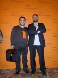 Con Giuseppe Gervasio, uno dei due organizzatori del Festival. Grande Gerva!