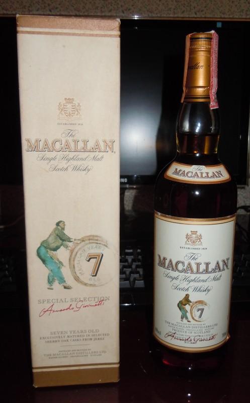 La mia bottiglia di Macallan 7 y.o. Giovinetti