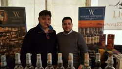 Con Max allo stand Whisky Antique!