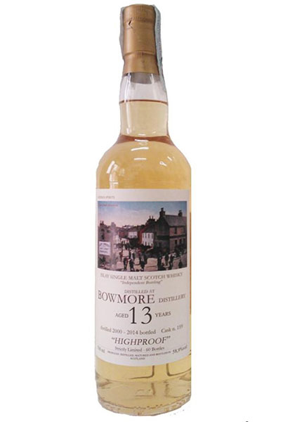"Bowmore 13 y.o. 2000-2014 ""Highproof"" Hidden Spirits"