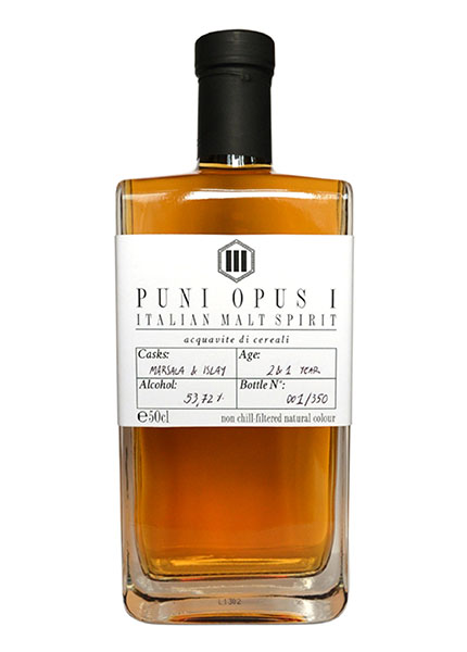 Puni Opus I, Acquavite di Cereali interamente Made in Italy.