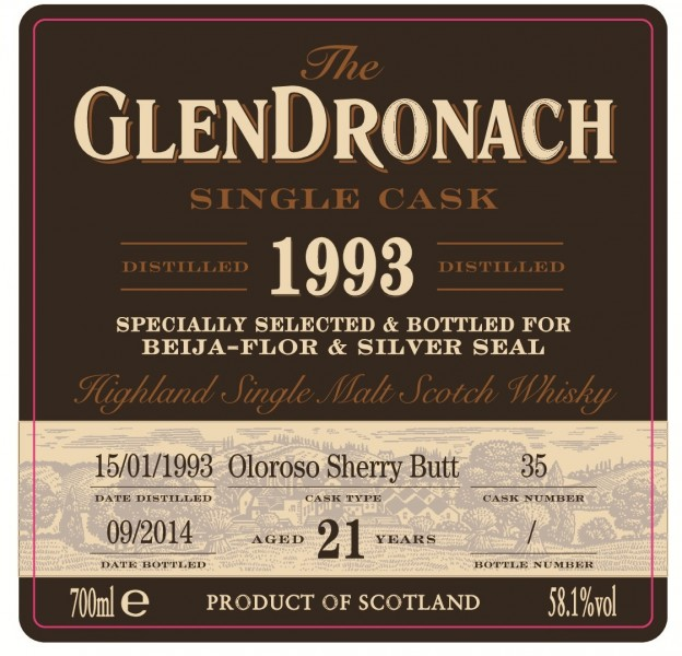 GlenDronach Cask 35 Front Label