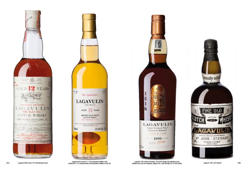 Alcune delle splendide e rare bottiglie immortalate nel testo,